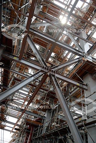 Assunto: Estrutura metálica na obra de construção da Unidade de Fertilizantes Nitrogenados da PETROBRAS / Local: Três Lagoas - Mato Grosso do Sul (MS) - Brasil / Data: 09/2013