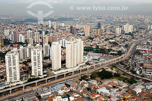 Assunto: Vista aérea da obra de construção do monotrilho Linha 15 Prata - Avenida Professor Luiz Ignácio de Anhaia Mello  / Local: São Paulo (SP) - Brasil / Data: 05/2013