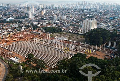 Assunto: Vista aérea da obra de construção do terminal Pátio Oratório do Monotrilho / Local: Vila Prudente - São Paulo (SP) - Brasil / Data: 05/2013