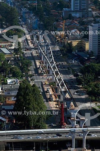 Assunto: Vista aérea da obra de construção do monotrilho Linha 17 Ouro na Avenida Jornalista Roberto Marinho / Local: São Paulo (SP) - Brasil / Data: 05/2013