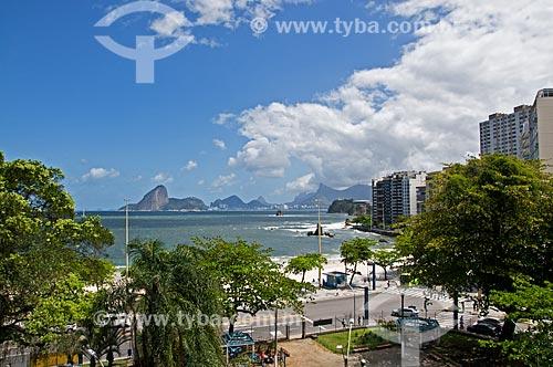 Assunto: Vista da Praia de Icaraí com Praça Getulio Vargas em primeiro plano / Local: Icaraí - Niterói - Rio de Janeiro (RJ) - Brasil / Data: 09/2013