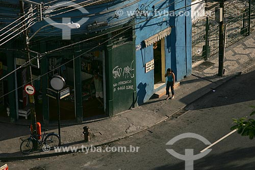 Pichação em prédio comercial no bairro de Vila Isabel  - Rio de Janeiro - Rio de Janeiro - Brasil