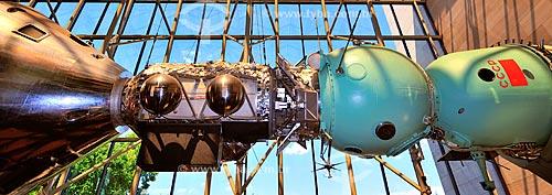Projeto de Teste Apollo-Soyuz no Museu do Ar e Espaço do Instituto Smithsoniano - possui a maior coleção de aeronaves e naves espaciais de todo o mundo  - Estados Unidos