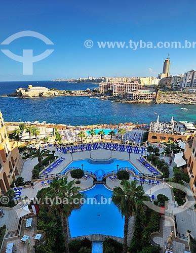Assunto: Vista do Corinthia Hotel St Georges Bay / Local: República de Malta - Europa / Data: 09/2013