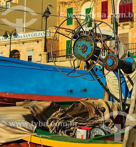 Assunto: Luzzu - Barco de pesca tradicional das ilhas maltesas / Local: República de Malta - Europa / Data: 09/2013