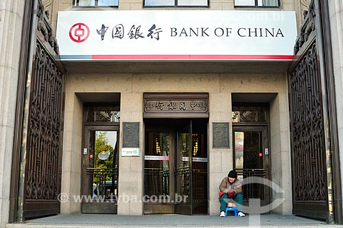 Assunto: Fachada do prédio do Banco da China / Local: Xangai - China - Ásia / Data: 04/2013