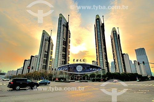 Assunto: Fachadas de prédios / Local: Xangai - China - Ásia / Data: 02/2013