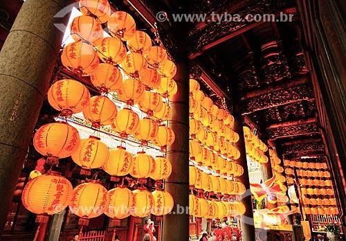 Assunto: Lanternas decorativas em templo / Local: Taipé - China - Ásia / Data: 03/2013