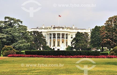 Assunto: Fachada da Casa Branca / Local: Washigton DC - Estados Unidos da América (EUA) - América do Norte / Data: 08/2013