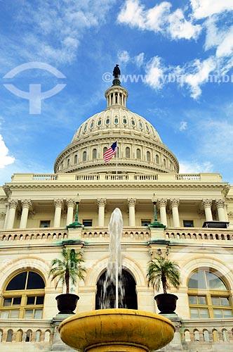 Assunto: Estátua da Liberdade sobre a cúpula do Capitólio dos Estados Unidos / Local: Washigton DC - Estados Unidos da América (EUA) - América do Norte / Data: 09/2013