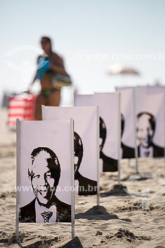 Assunto: Homenagem à Nelson Mandela na Praia de Copacabana realizada pela ONG Rio de Paz / Local: Copacabana - Rio de Janeiro (RJ) - Brasil / Data: 12/2013
