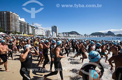 Assunto: Largada da etapa masculina do evento Rei e Rainha do Mar na Praia de Copacabana (Posto 6) / Local: Copacabana - Rio de Janeiro (RJ) - Brasil / Data: 11/2013