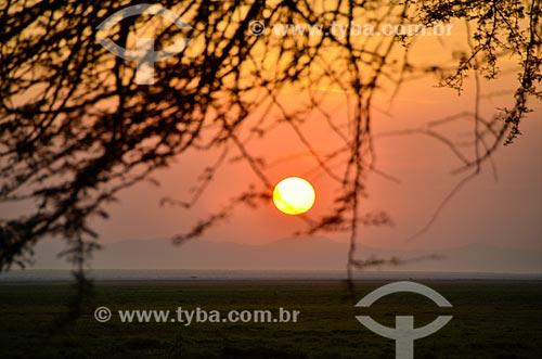 Assunto: Amanhecer no Parque Nacional de Amboseli / Local: Vale do Rift - Quênia - África / Data: 09/2012