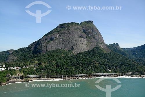 Assunto: Elevado do Joá (1972) - também conhecido como Elevado das Bandeiras / Local: Joá - Rio de Janeiro (RJ) - Brasil / Data: 11/2013