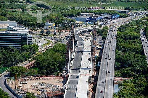Assunto: Vista aérea da Ponte Cardeal Dom Eugênio de Araújo Sales (2013) / Local: Barra da Tijuca - Rio de Janeiro (RJ) - Brasil / Data: 11/2013