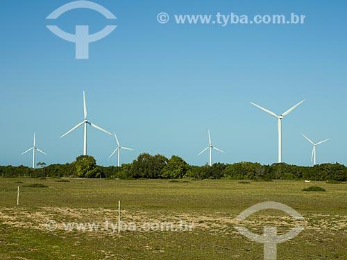 Assunto: Aerogeradores do Parque Eólico de Gargaú / Local: São Francisco de Itabapoana - Rio de Janeiro (RJ) - Brasil / Data: 12/2013