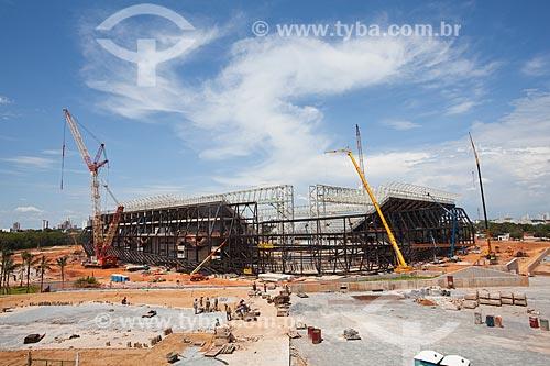 Assunto: Obra de construção do estádio Arena Pantanal / Local: Cuiabá - Mato Grosso (MT) - Brasil / Data: 10/2013