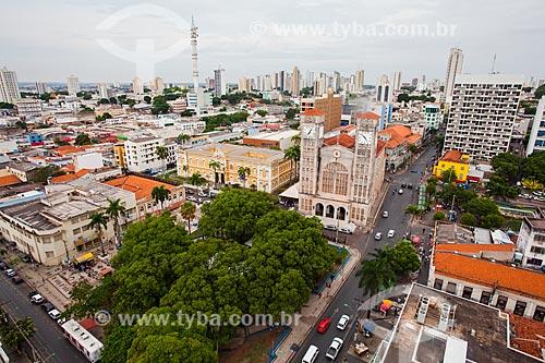 Assunto: Vista da Praça da República e Catedral Metropolitana Basílica do Senhor Bom Jesus / Local: Centro - Cuiabá - Mato Grosso (MT) - Brasil / Data: 10/2013