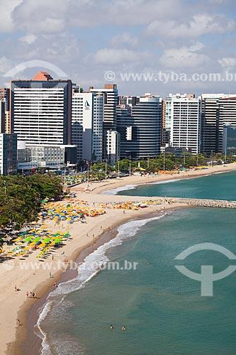 Assunto: Vista aérea da orla de Fortaleza com o espigão da Praia de Iracema / Local: Fortaleza - Ceará (CE) - Brasil / Data: 11/2013