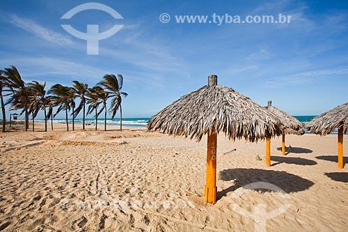 Assunto: Quiosques de palha na Praia do Futuro / Local: Fortaleza - Ceará (CE) - Brasil / Data: 11/2013