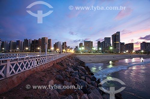 Assunto: Espigão da Praia de Iracema ao anoitecer / Local: Fortaleza - Ceará (CE) - Brasil / Data: 11/2013