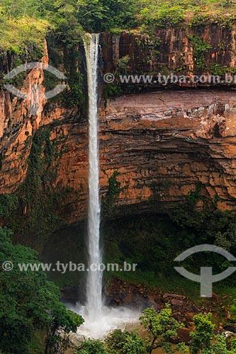 Assunto: Vista da Cachoeira Véu da Noiva / Local: Chapada dos Guimarães - Mato Grosso (MT) - Brasil / Data: 03/2013