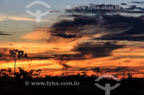 Assunto: Linhas de transmissão ao lado da BR-364 / Local: Porto Velho - Rondônia (RO) - Brasil / Data: 11/2013