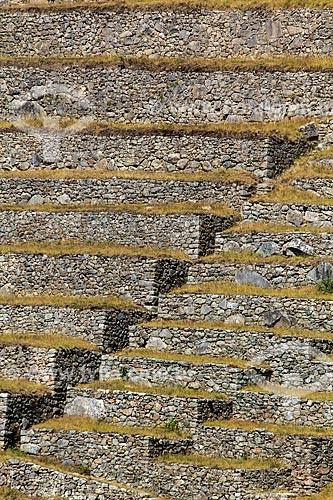 Assunto: Terraços - Ruínas de Machu Picchu - civilização inca / Local: Peru - América do Sul / Data: 07/2012