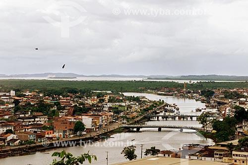 Assunto: Vista geral da cidade de Valença com o Rio Una / Local: Valença - Bahia (BA) - Brasil / Data: 04/1991