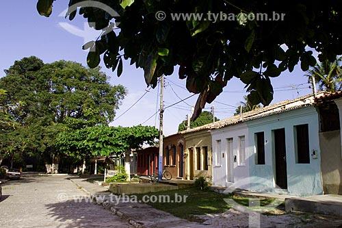 Assunto: Casas no distrito de Arraial DAjuda / Local: Distrito de Arraial DAjuda - Porto Seguro - Bahia (BA) - Brasil / Data: 04/1991