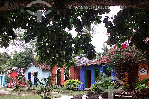 Assunto: Rua comercial com lojas de artesanato / Local: Distrito de Trancoso - Porto Seguro - Bahia (BA) - Brasil / Data: 04/1991