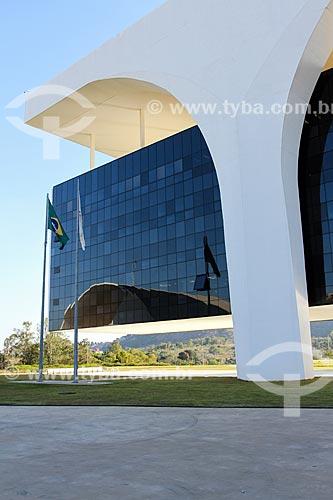 Assunto: Trecho da fachada do Palácio Tiradentes - sede do Governo do Estado - na Cidade Administrativa Presidente Tancredo Neves (2010) / Local: Belo Horizonte - Minas Gerais (MG) - Brasil / Data: 08/2013