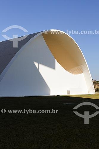 Assunto: Fachada do Auditório JK na Cidade Administrativa Presidente Tancredo Neves (2010) / Local: Belo Horizonte - Minas Gerais (MG) - Brasil / Data: 08/2013
