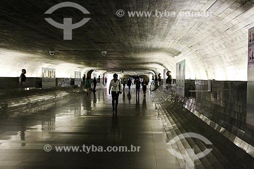 Assunto: Corredor do Congresso Nacional conhecido como Túnel do Tempo - corredor que registra acontecimentos políticos importantes na história do país / Local: Brasília - Distrito Federal (DF) - Brasil / Data: 08/2013