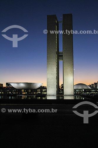 Assunto: Pôr do sol no Congresso Nacional / Local: Brasília - Distrito Federal (DF) - Brasil / Data: 08/2013