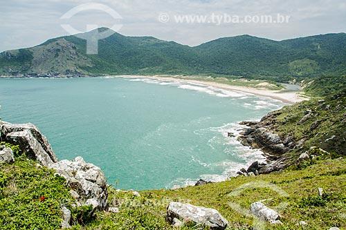 Assunto: Vista da Praia da Lagoinha do Leste no Parque Municipal da Lagoinha do Leste / Local: Pântano do Sul - Florianópolis - Santa Catarina (SC) - Brasil / Data: 12/2013
