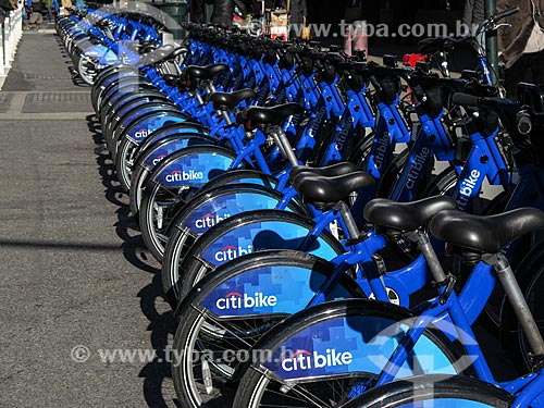 Assunto: Bicicletas públicas - para aluguel - da Citi Bike / Local: Nova Iorque - Estados Unidos - América do Norte / Data: 11/2013