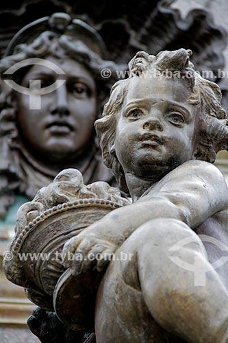 Assunto: Detalhe do Monumento à Abertura dos Portos às Nações Amigas (1900) na Praça São Sebastião / Local: Manaus - Amazonas (AM) - Brasil / Data: 03/2012