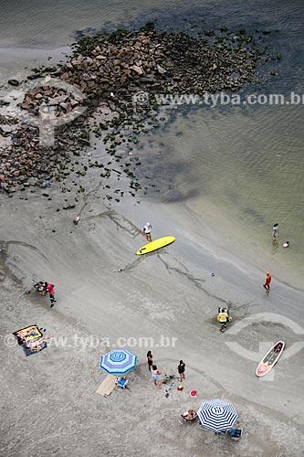 Assunto: Foto aérea da Praia dos Milionários / Local: São Vicente - São Paulo (SP) - Brasil / Data: 12/2013