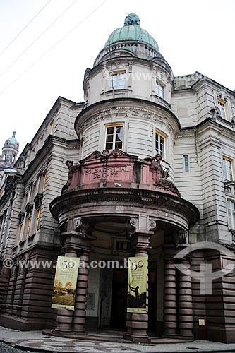 Assunto: Fachada do Museu do Café (1922) - antiga Bolsa Oficial de Café / Local: Santos - São Paulo (SP) - Brasil / Data: 12/2013