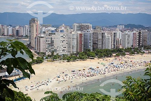 Assunto: Vista da Praia de Itararé a partir da Ilha Porchat / Local: São Vicente - São Paulo (SP) - Brasil / Data: 12/2013