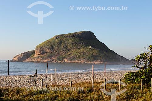 Assunto: Vista da Pedra do Pontal a partir da Praia do Recreio / Local: Recreio dos Bandeirantes - Rio de Janeiro (RJ) - Brasil / Data: 01/2014