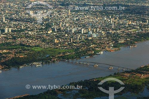 Assunto: Foto aérea da Ponte Rondônia-Amazonas com a cidade ao fundo / Local: Porto Velho - Rondônia (RO) - Brasil / Data: 02/2014
