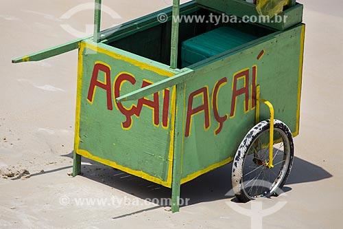 Assunto: Carrocinha de açaí na Praia do Forno / Local: Arraial do Cabo - Rio de Janeiro (RJ) - Brasil / Data: 01/2014