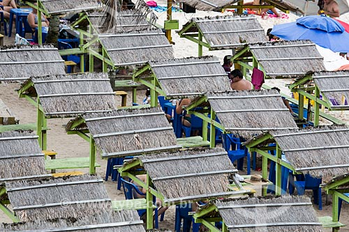 Assunto: Barracas na Praia do Forno / Local: Arraial do Cabo - Rio de Janeiro (RJ) - Brasil / Data: 01/2014