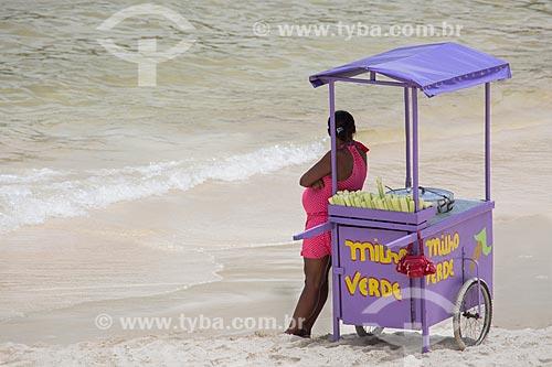 Assunto: Carrocinha de milho verde na Praia do Forno / Local: Arraial do Cabo - Rio de Janeiro (RJ) - Brasil / Data: 01/2014