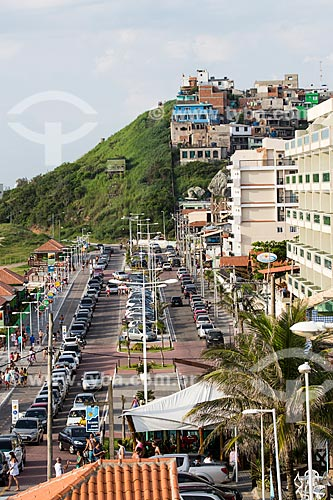 Assunto: Avenida Hermes Barcelos na orla da Praia Grande / Local: Arraial do Cabo - Rio de Janeiro (RJ) - Brasil / Data: 01/2014