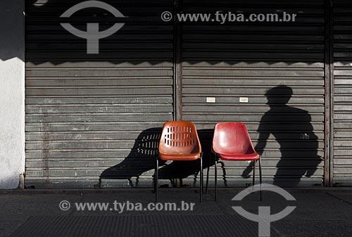 Assunto: Cadeiras vazias e comércio fechado durante o carnaval / Local: Madureira - Rio de Janeiro (RJ) - Brasil / Data: 02/2012