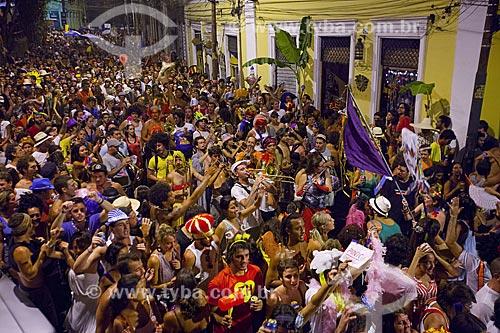 Assunto: Desfile do bloco de carnaval de rua Me enterra na quarta / Local: Santa Teresa - Rio de Janeiro (RJ) - Brasil / Data: 02/2012