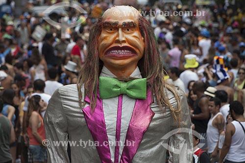 Assunto: Boneco gigante no desfile do bloco de carnaval de rua Bloco da ansiedade / Local: Laranjeiras - Rio de Janeiro (RJ) - Brasil / Data: 02/2012